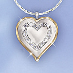 My Daughter, My Blessing Heart Shaped Pendant Necklace: Gift For Daughter